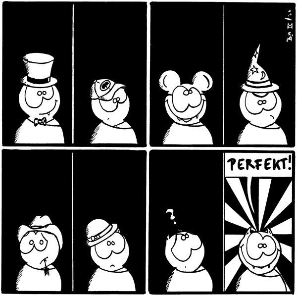 Fred mit Zylinder Fred mit Basecap Fred als Mickey Mouse Fred mit Zauberhut Fred mit Cowboyhut Fred mit Frauenhut Fred mit Fragezeichen Fred: perfekt! [[einfach nur Fred]]
